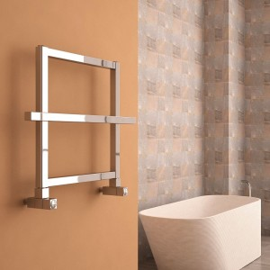 "Carisa ""Ajax I-II"" Polished Anodised Aluminium Designer Towel Rails(2 Sizes)"