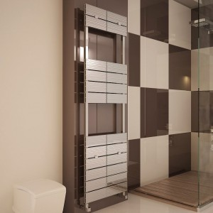 "Carisa ""Monza Bath"" Polished Anodised Aluminium Designer Towel Rails (3 Sizes)"