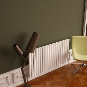 "Carisa ""Tallis"" White Aluminium Oval Designer Horizontal Radiators (3 Sizes)"