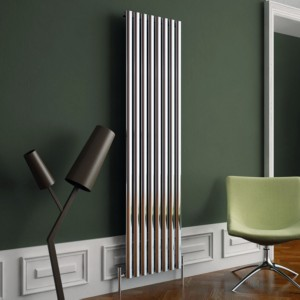 "Carisa ""Tallis"" White Aluminium Oval Tube Designer Vertical Radiators (2 Sizes)"