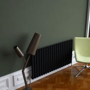 "Carisa ""Tallis"" White Aluminium Oval Tube Designer Horizontal Radiators (3 Sizes)"
