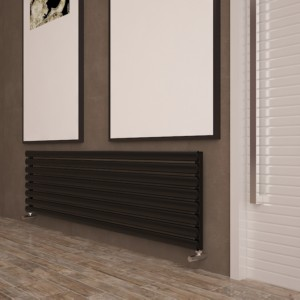 "Carisa ""Tallis"" White Aluminium Oval Tube Designer Horizontal Radiators (2 Sizes)"
