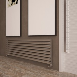 "Carisa ""Tallis"" White Aluminium Oval Tube Designer Horizontal Radiators (2 Sizes)"