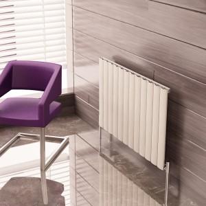 """Carisa """"Elliptic"""" White Aluminium Designer Horizontal Radiators (3 Sizes)"""