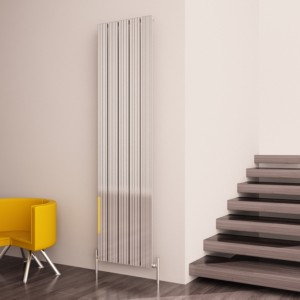 "Carisa ""Monza"" Polished Anodised Aluminium Designer Vertical Radiators (3 Sizes)"
