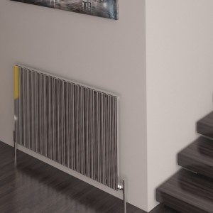 "Carisa ""Monza"" Polished Anodised Aluminium Designer Horizontal Radiators (5 Sizes)"