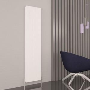 """Carisa """"Monza Double"""" White Aluminium Designer Vertical Radiators (3 Sizes)"""