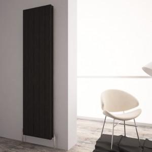 """Carisa """"Monza Double"""" Black Aluminium Designer Vertical Radiators (3 Sizes)"""