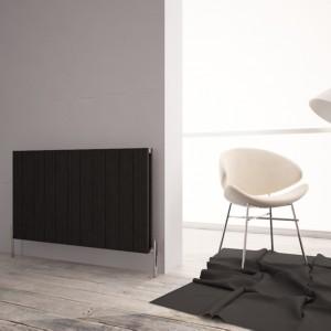 """Carisa """"Monza Double"""" Black Aluminium Designer Horizontal Radiators (5 Sizes)"""
