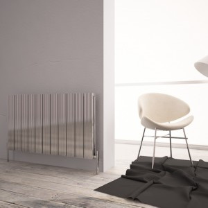 "Carisa ""Monza Double"" Polished Anodised Aluminium Designer Horizontal Radiators (5 Sizes)"