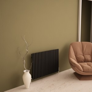 "Carisa ""Sophia"" Black Aluminium Designer Horizontal Radiators (3 Sizes)"