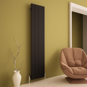 "Carisa ""Sophia"" Black Aluminium Designer Vertical Radiators (2 Sizes)"