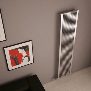 "Carisa ""Stripe"" Brushed Stainless Steel Designer Radiators (4 Sizes)"