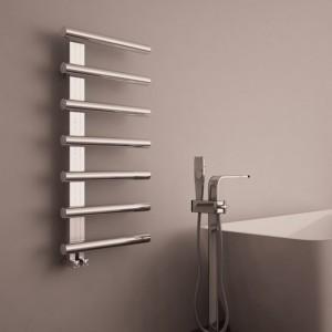 "500mm (w) x 1000mm (h) Carisa ""Ivor"" Brushed OR Polished Stainless Steel Designer Towel Rail"