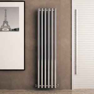 "Carisa ""Mayra"" Chrome Designer Vertical Circular Tube Radiators (2 Sizes)"