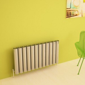 "Carisa ""Otto"" Polished Anodized Aluminium Designer Horizontal Radiators (2 Sizes)"
