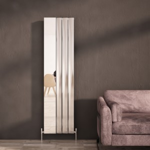 "Carisa ""Step"" Polished Anodised Aluminium Designer Mirror Radiators (2 Sizes)"
