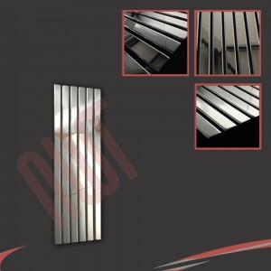 "440mm (w) x 1250mm (h) ""Corwen"" Chrome Flat Panel Vertical Radiator (6 Sections)"