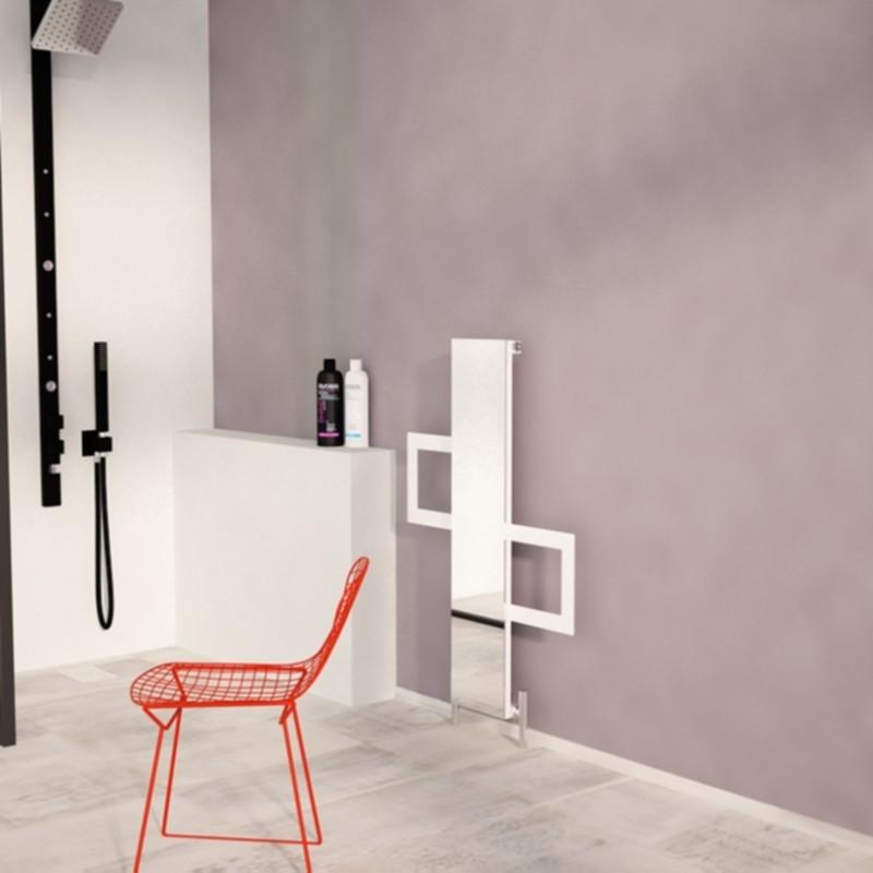 """Carisa """"Mate"""" White OR Black Aluminium Designer Mirror Radiators + Towel Bars (3 Sizes)"""