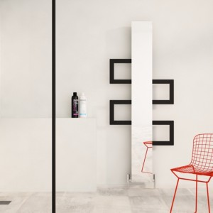 "Carisa ""Mate"" White OR Black Aluminium Designer Mirror Radiators + Towel Bars (3 Sizes)"