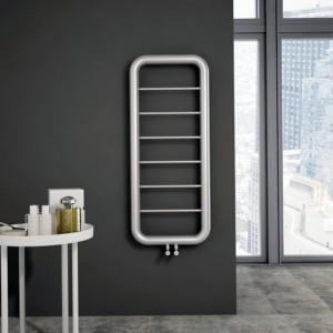 """Carisa """"Paros"""" Brushed OR Polished Stainless Steel Designer Towel Rail Radiator (3 Sizes)"""