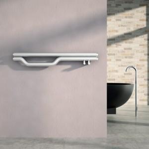 "1200mm (w) x 225mm (h) Carisa ""Redox"" Brushed OR Polished Stainless Steel Designer Towel Rail / Radiator"