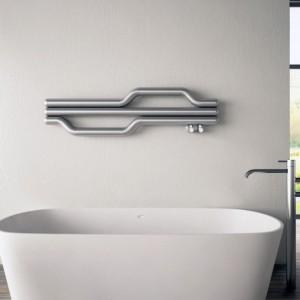 "1200mm (w) x 335mm (h) Carisa ""Lepus"" Brushed OR Polished Stainless Steel Designer Towel Rail / Radiator"
