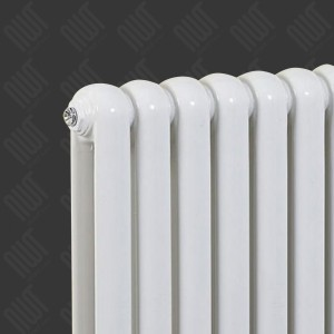 600mm (h) x 853mm (w) Elias White Vertical Radiator  - Close up