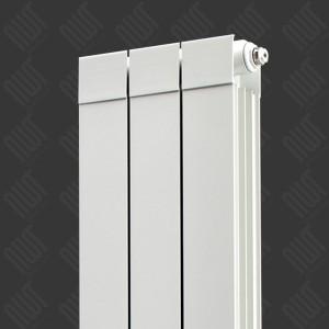 "268mm (w) x 1846mm (h) ""Trojan"" White Vertical Aluminium Radiator (3 Extrusions)"