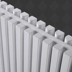 "Ultraheat ""Klon"" Designer White Single & Double, D-Profile Vertical Radiators (11 Sizes)"