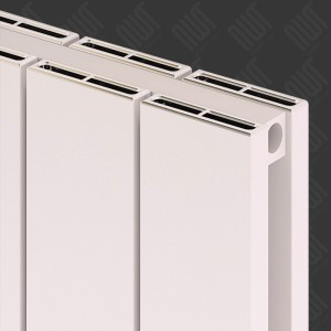 "Carisa ""Nemo Double"" White Aluminium Flat Panel Vertical Designer Radiators (3 Sizes)"