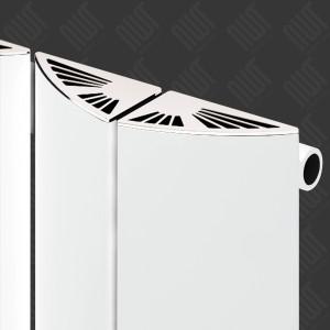 """Carisa """"Nixie"""" White Aluminium Designer Vertical Radiators (2 Sizes)"""