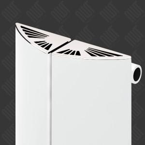 "Carisa ""Nixie Bath"" White Aluminium Vertical Designer Radiators & Chrome Towel Bar (3 Sizes)"
