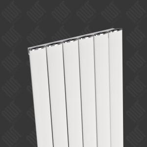 """Carisa """"Elliptic"""" White Aluminium Designer Vertical Radiators (3 Sizes)"""