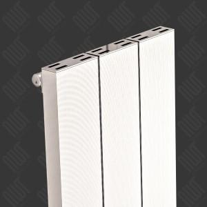 """Carisa """"Elvino"""" White Aluminium Flat Panel Vertical Designer Radiators (2 Sizes)"""