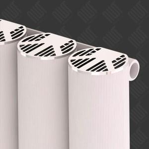 """Carisa """"Otto"""" White Aluminium Designer Vertical Radiators (3 Sizes)"""