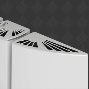 """Carisa """"Gaia"""" White Aluminium Designer Vertical Radiators (3 Sizes)"""