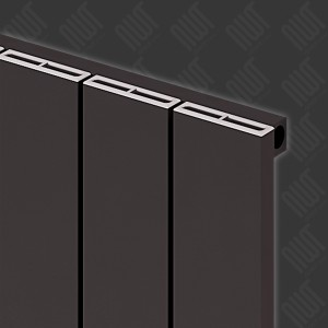 "Carisa ""Nemo"" Black Aluminium Flat Panel Vertical Designer Radiators (3 Sizes)"