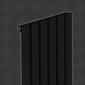 "Carisa ""Tallis"" Black Aluminium Oval Tube Designer Vertical Radiators (2 Sizes)"