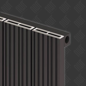 """Carisa """"Monza"""" Black Aluminium Designer Vertical Radiators (3 Sizes)"""
