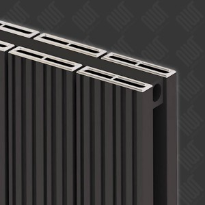 "Carisa ""Monza Double"" Black Aluminium Designer Vertical Radiators (3 Sizes)"