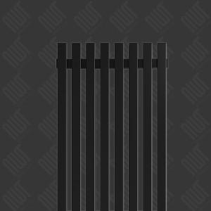 """Carisa """"Sophia"""" Black Aluminium Designer Vertical Radiators (2 Sizes)"""