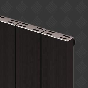 """Carisa """"Elvino"""" Black Aluminium Flat Panel Vertical Designer Radiators (2 Sizes)"""