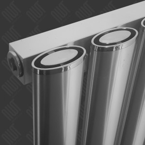 "Carisa ""Tallis"" Polished Anodised Aluminium Oval Tube Designer Vertical Radiators (2 Sizes)"
