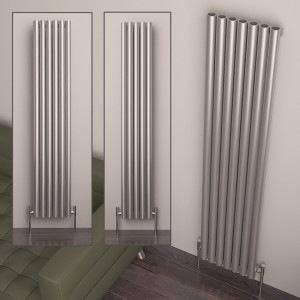 "Carisa ""Mistral"" Brushed Stainless Steel Designer Radiators (3 Sizes)"