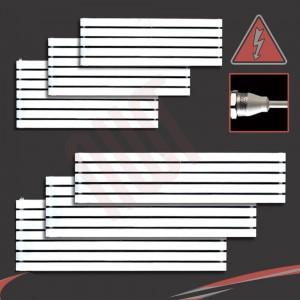 """Corwen"" White Electric Flat Panel Horizontal Radiators (6 Sizes - Single Heat)"