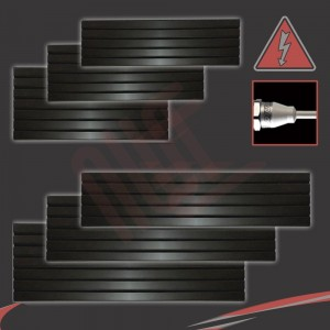 """Corwen"" Black Electric Flat Panel Horizontal Radiators (6 Sizes - Single Heat)"