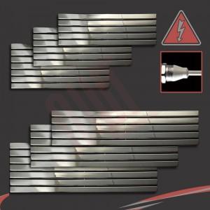 """Corwen"" Chrome Electric Flat Panel Horizontal Radiators (6 Sizes - Single Heat)"