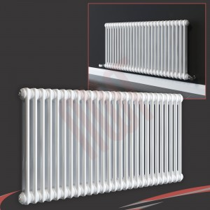 "1032mm (w) x 600mm (h) ""Evora"" White Horizontal 2 Column Radiator (13 Sections)"