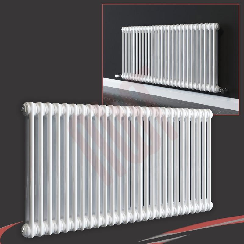 "1032mm (w) x 600mm (h) ""Evora"" White Horizontal 2 Column Radiator (13 Sections)"